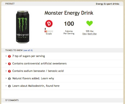 Monster on Fooducate