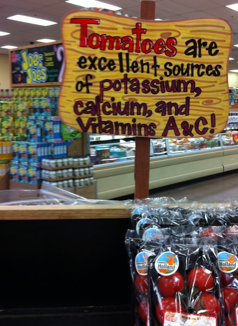 Trader Joe Nutrition Signage Blooper