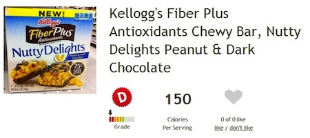 Kellogg's Nutty Delights Chewy Bars - Less than Delightful Ingredients