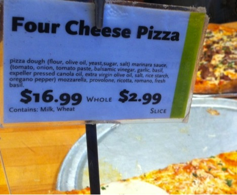 Whole Foods Market Four Cheese Pizza