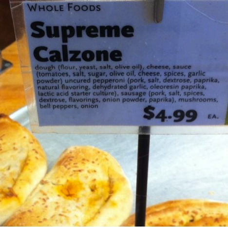 Whole Foods Market Calzone