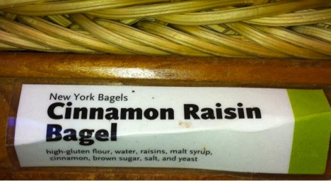 Whole Foods Cinnamon Raisin Bagel