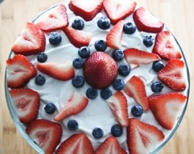 July Fourth Angel Food Cake Trifle