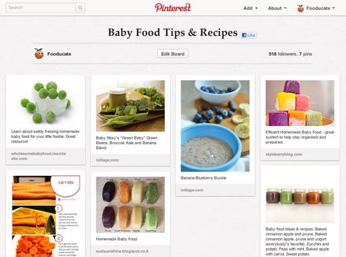 Pinterest Baby Food
