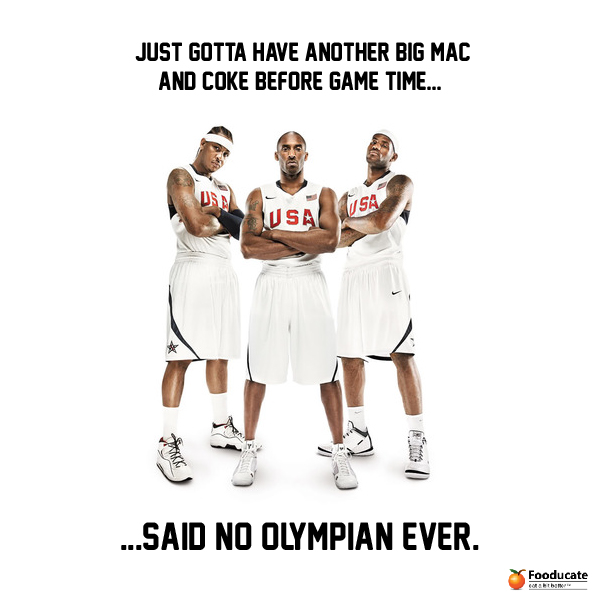 Just Gotta Have Another Big Mac And Coke Before Game Time... Said No Olympian Ever.