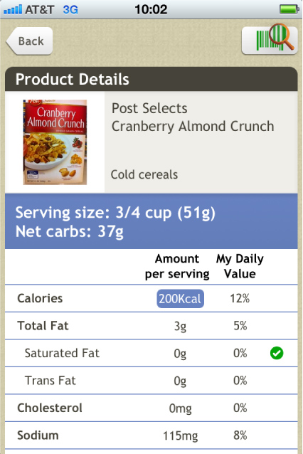 Diabetes Screenshot Product Page