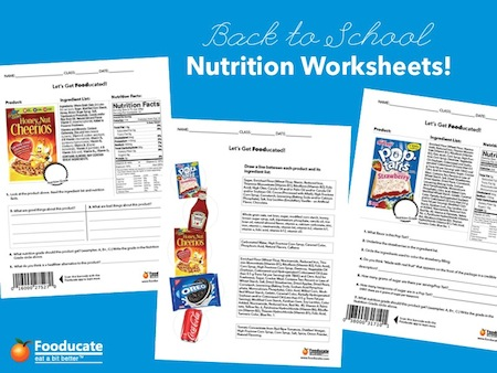 Worksheets Reading Food Labels Worksheet fun nutrition worksheets for kids fooducate kids
