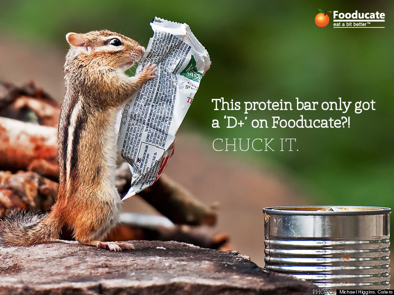 This Protein bar only got a 'D+' on Fooducate?! CHUCK IT.