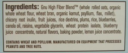gnu bar ingredients