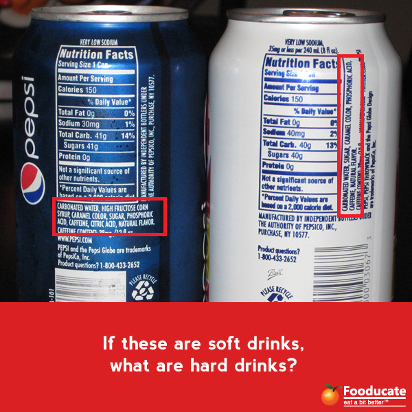 If these are soft drinks, what are hard drinks?