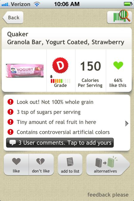 quaker yogurt granola bar