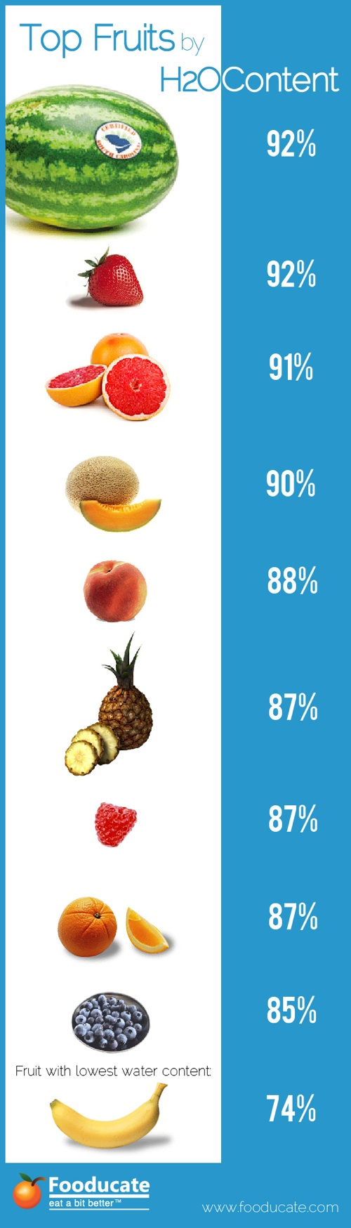 Top Fruits by Water Content