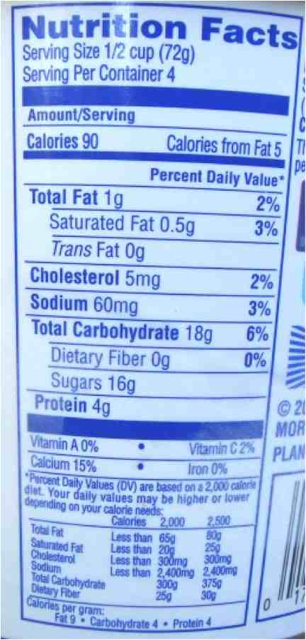 Kefir nutrition facts