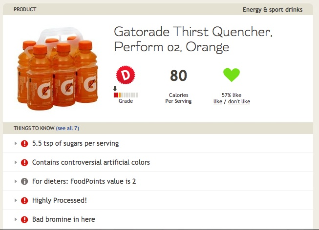 Gatorade with Bromine