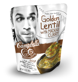Campbells Go Soup: Golden Lentil with Madras Curry