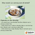 On Cereal Serving Sizes. Grape Nuts as an Example