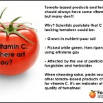 Tomatoes and the Vitamin C Disappearing Act