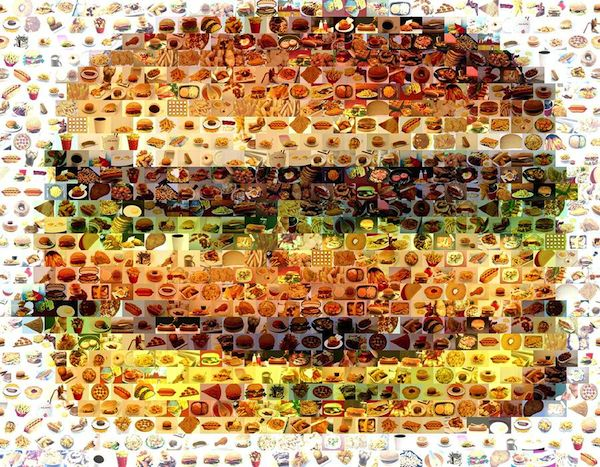 Cheeseburger Mosaic