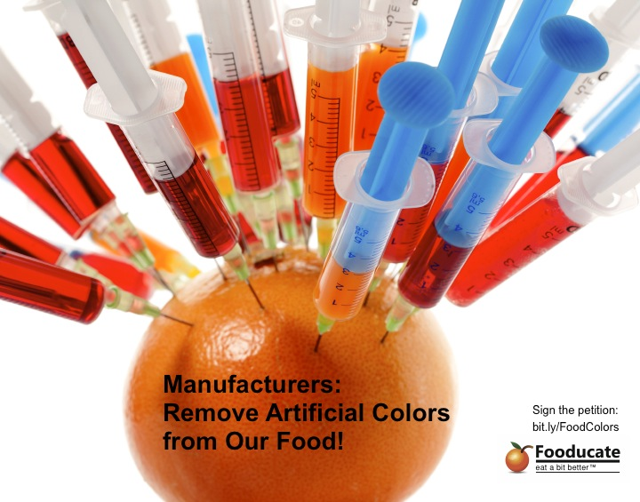 Food Manufacturers: Remove Artificial Colors from Our Food!