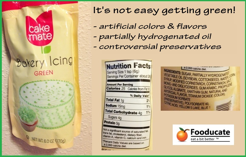 Artificially Colored Icing: Don't do it!