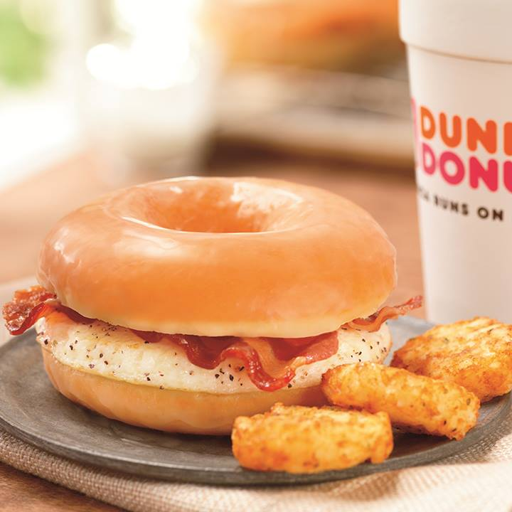 DD Glazed Donut Breakfast Sandwich