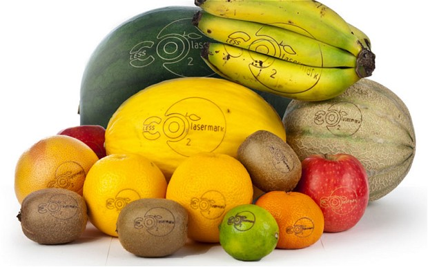 How About Tattoos Instead of Sticker Labels on your Fruit?