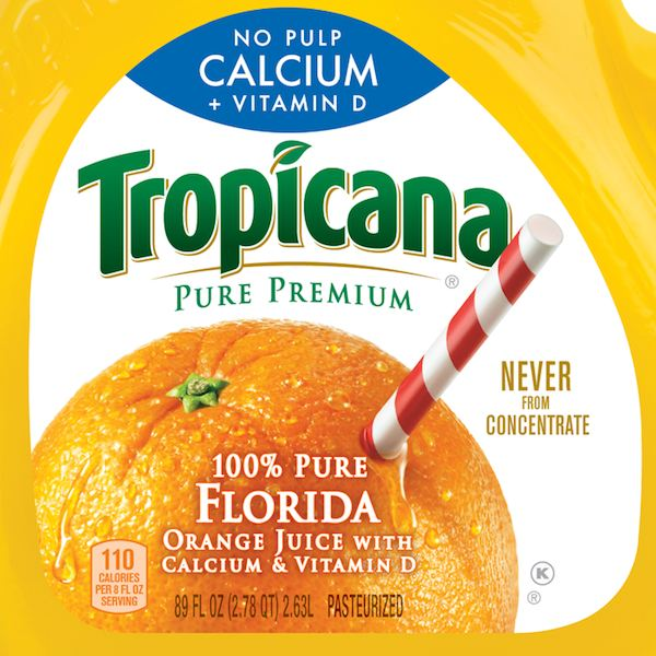 Tropicana Label Closeup