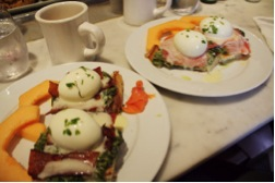 Smoked Salmon Eggs Benedict - Cora's Coffee Shop