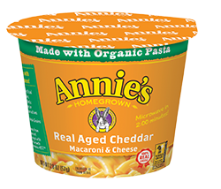Annie's Real Aged Cheddar Microwavable Mac and Cheese Cup