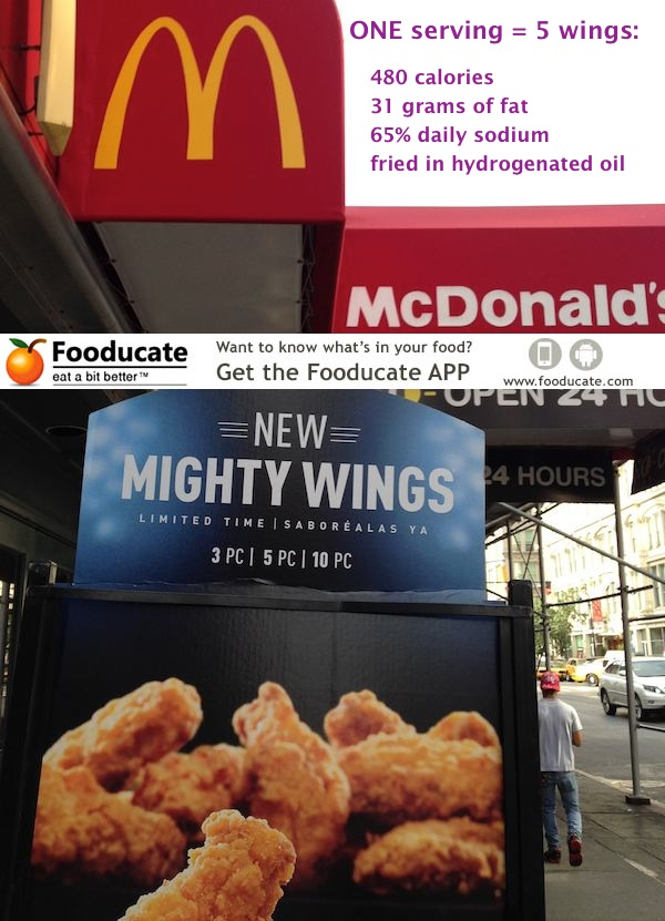 McDonald's Mighty Wings – Not for the Weak Hearted