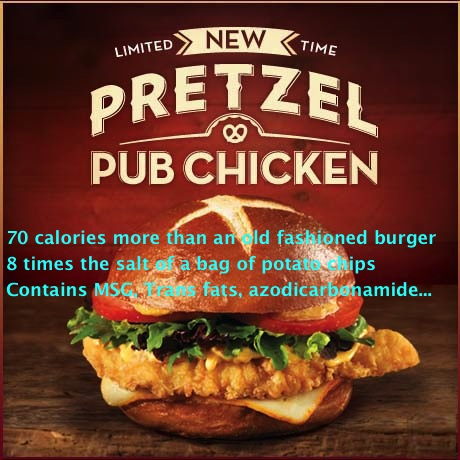 Wendy's Pretzel Pub Chicken