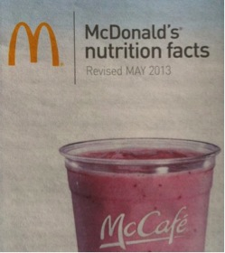 McDonald's Nutrition Facts