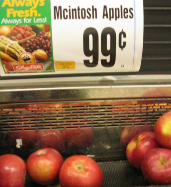 uper cheap apples