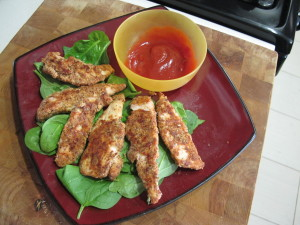 Almond Meal Chicken Fingers