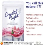 How Natural is Crystal Light Powdered Beverage Mix?