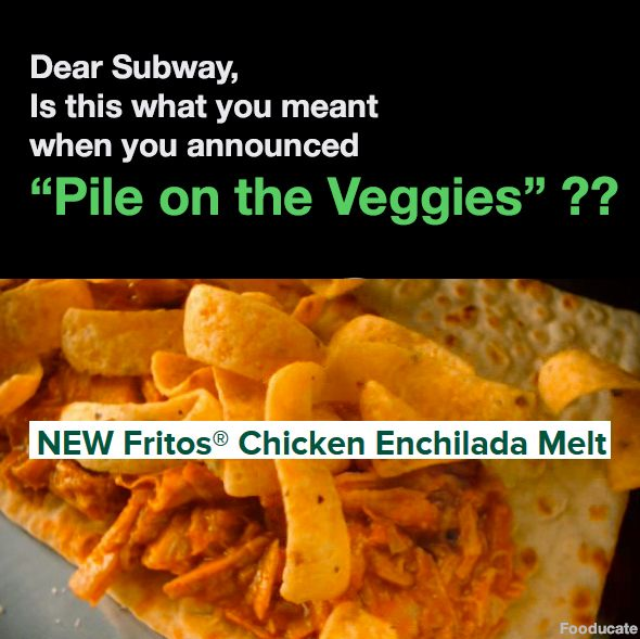 Fritos Chicken Enchilda Melt by Subway