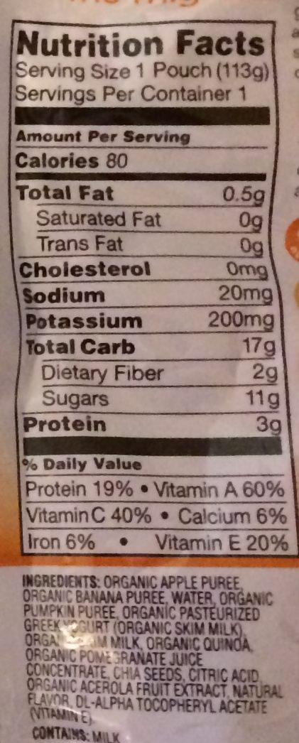 Plum Organics Nutrition