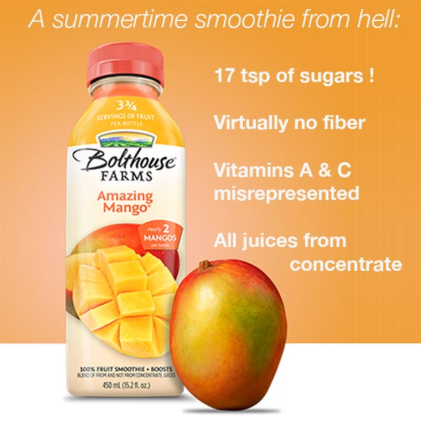 Bolthouse Amazing Mango Smoothie Teardown