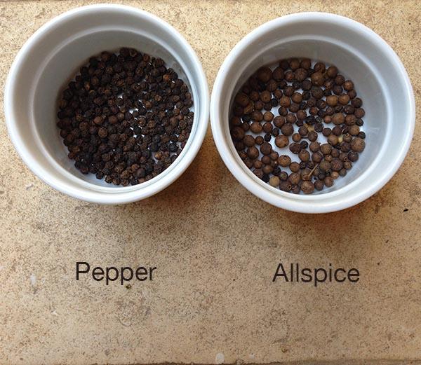 pepper vs. allspice