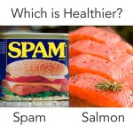 Which is Healthier - Salmon or Spam?
