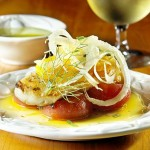 Healthy Recipe: Day Boat Cod with Olive Oil Melted Tomatoes and Petit Salad of Shaved Fennel and Ora...
