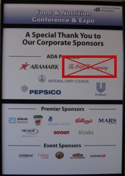 Great News: Coke Drops Sponsorship of Dietitian Organization