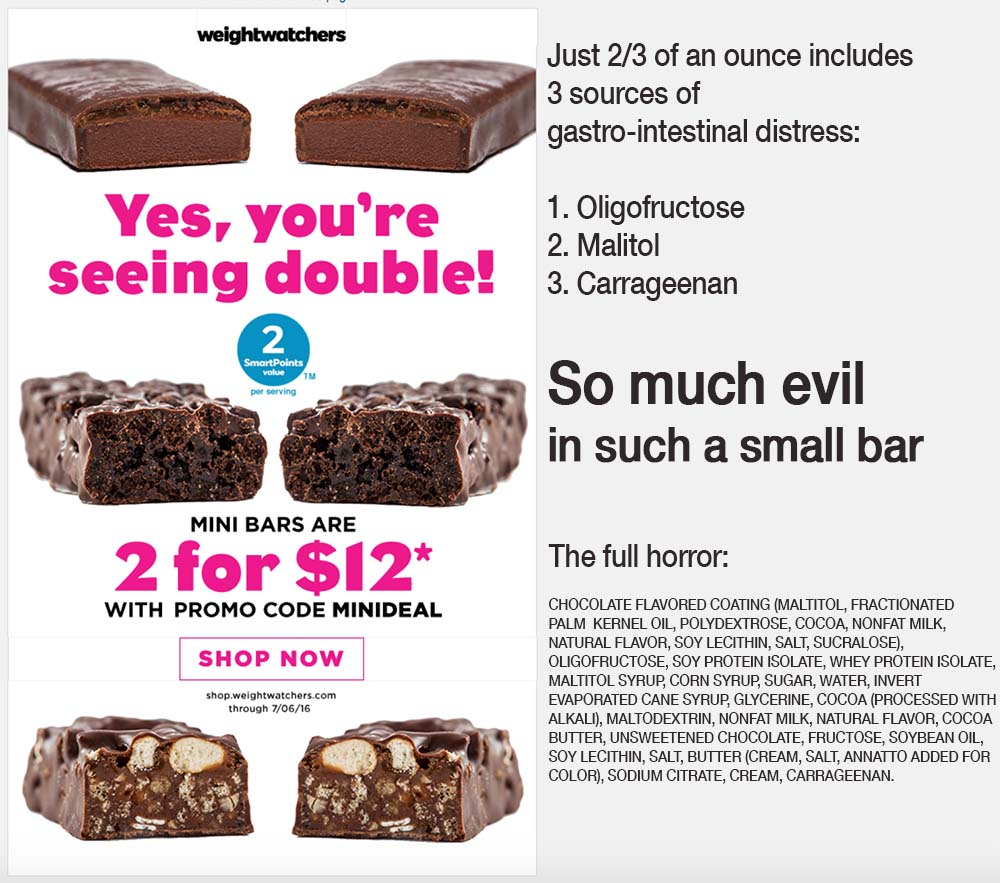 Weight Watchers Snacks – So Much Evil in Such a Small Bar