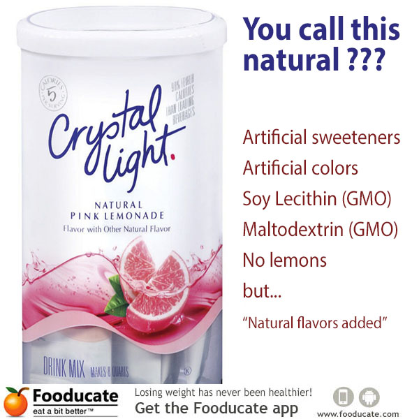 Crystal Light Lemonade Nutrition Facts Label Nutrition